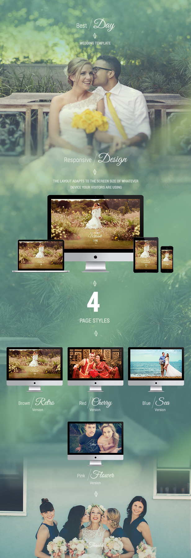 Responsive One-Page Wedding Template